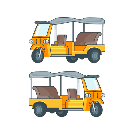 Taxi In Thailand Concept. Illustration
