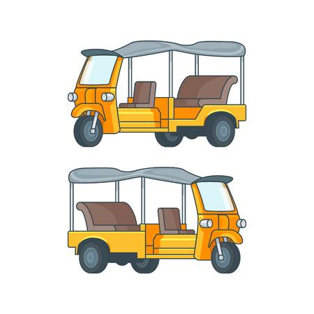 rikscha: Taxi in Thailand Konzept.