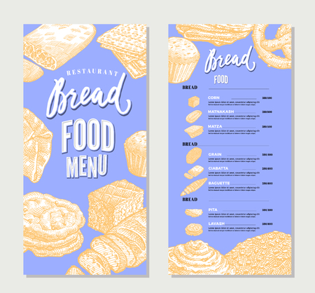 Vintage Food Restaurant Menu Template Illustration