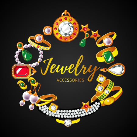 diamond earrings: Beautiful Jewelry Accessories Round Concept