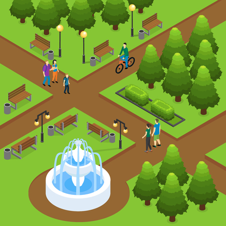 Isometric Summer Park Concept