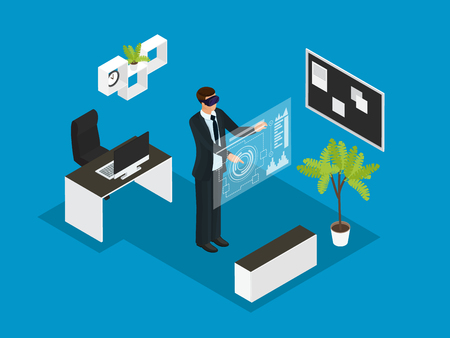 Isometric Business People Concept Ilustrace