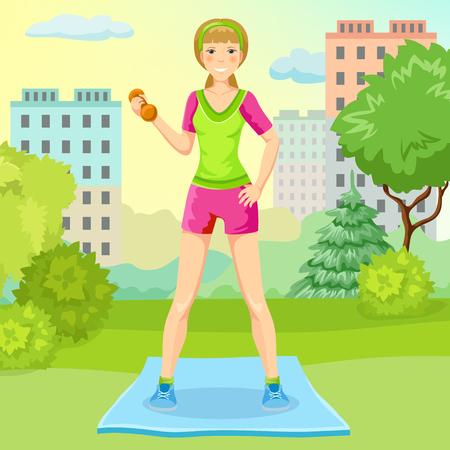 Cartoon Sport Lifestyle Concept Stock Vector - 77171567
