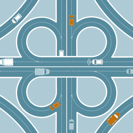 Car GPS Monitoring Top View Concept Imagens - 77252312