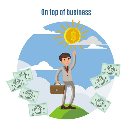 investment concept: Business Investment Concept Illustration
