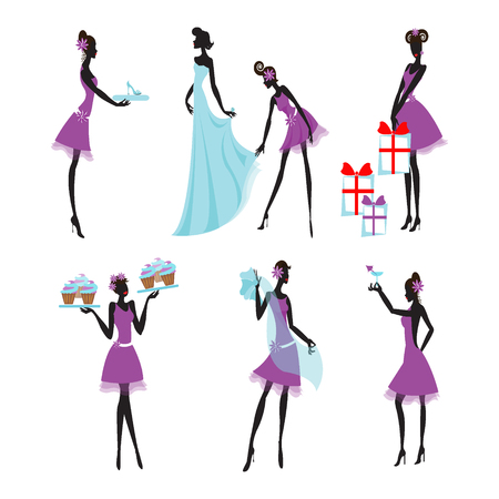 171 bridesmaids cliparts stock vector and royalty free bridesmaids rh 123rf com bridesmaid clipart bridesmaid clipart
