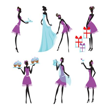 Colorful Bridesmaids Set