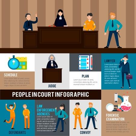 법률 시스템 인포 그래픽 템플릿