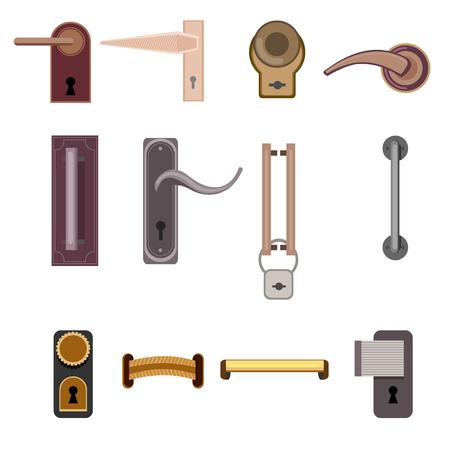 Stylish Modern Door Handles Collection Banco de Imagens - 77426040