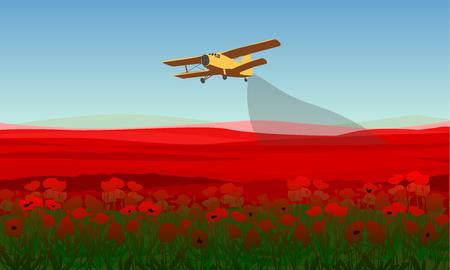 pesticides: Natural Field Landscape Template