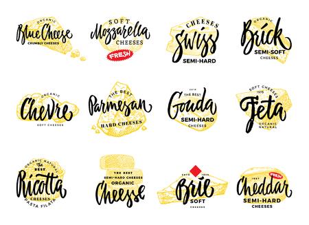 有機食品のロゴ セット  イラスト・ベクター素材