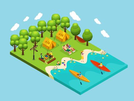 Isometric Outdoor Recreation Concept