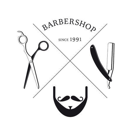 Hand Drawn Barbershop Logotype Template