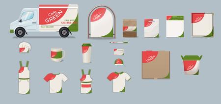 Cafe Corporate Identity Collection Ilustração