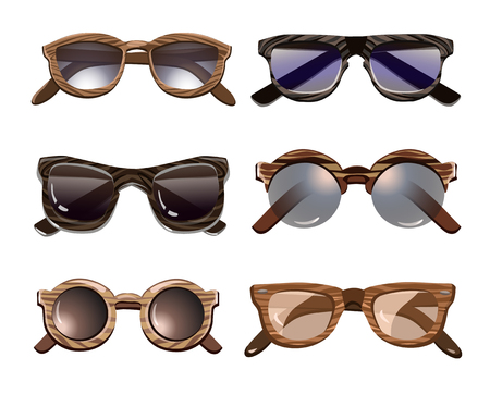 Colorful Fashionable Hipster Sunglasses Set