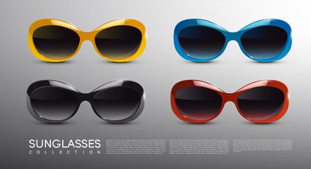 Fashionable Modern Sunglasses Set Illustration