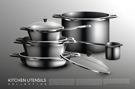 Realistic Kitchen Utensil Collection