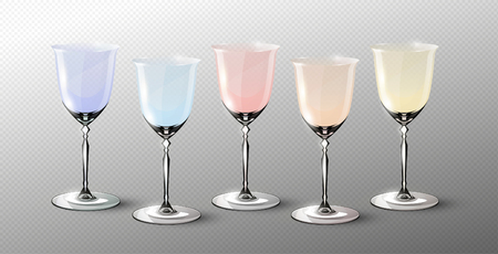 Modern Empty Glasses Set Illustration