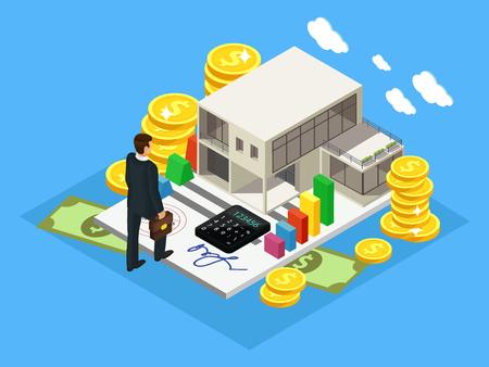 等尺性金融と投資コンセプト