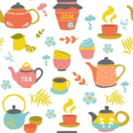 Modèle sans couture de cérémonie de thé Banque d'images - 78249460