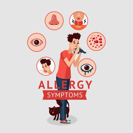 Concepto de síntomas de alergia Foto de archivo - 78160470
