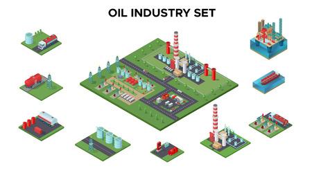 等尺性の石油産業のコンセプト