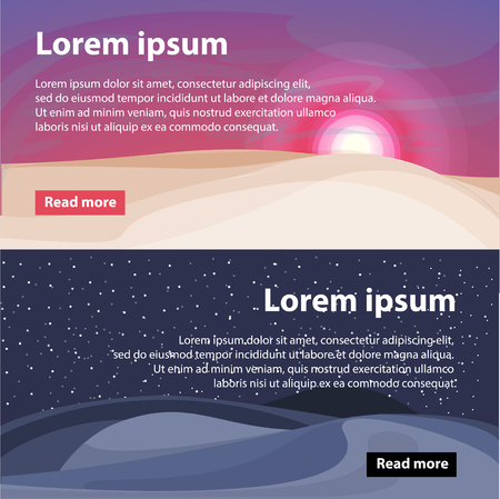 Beautiful Desert Landscape Horizontal Banners