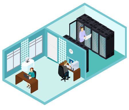 Isometric Data Center Template