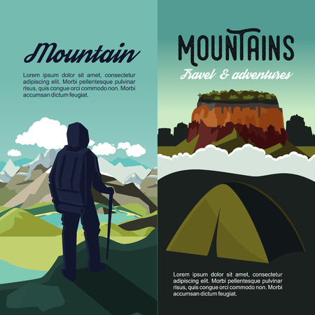 Nature Mountain Adventure Vertical Banners