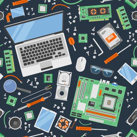 laptop repair: Computer Service Pattern