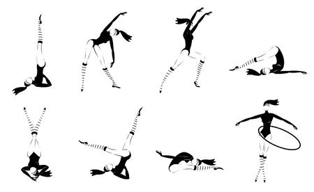 Monochrome Gymnastic Girls Set