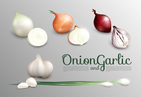 Realistic Fresh Vegetables Set Ilustração