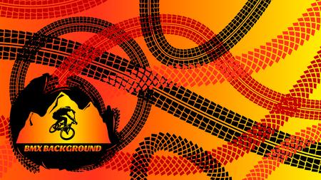 tire cover: BMX Background Design Illustration