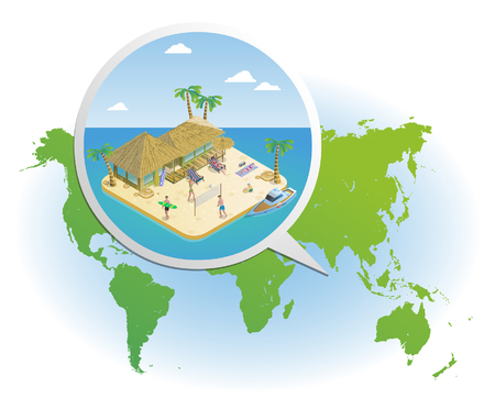 zoomed: Isometric Summer Vacation Template