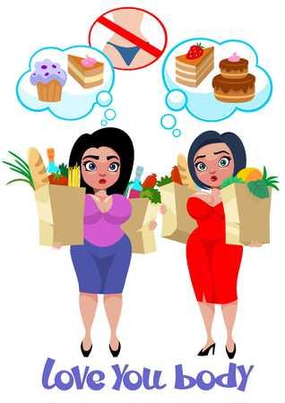 Cartoon Plus Size Women Concept