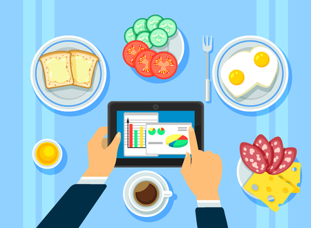Traditional Business Breakfast Concept Ilustrace