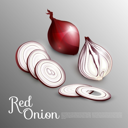 Natural Red Onion Concept