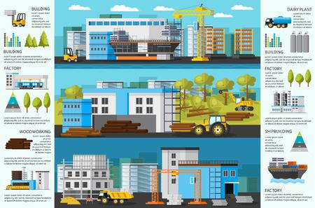 Brochure d'usine industrielle Banque d'images - 78841655