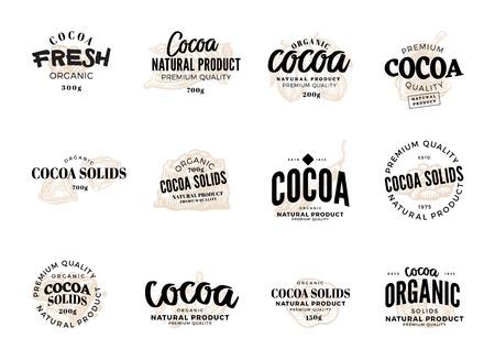 Cocoa labels set icon