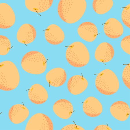 Colorful Fruit Seamless Pattern Ilustracja