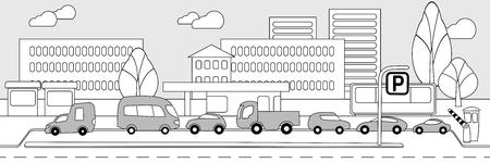 transporte terrestre: Monochrome City Parking Zone Concept