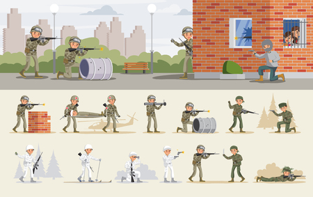 Release Of Hostages Operation Concept Illustration