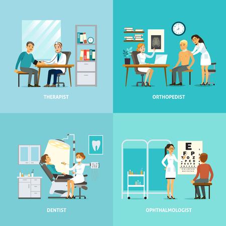 Medische behandeling Vierkante samenstelling