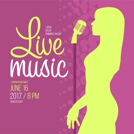 Live Music Performance Advertising Template