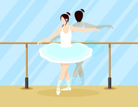 カラフルなバレエ ダンサーのコンセプト