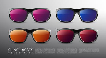 Stylish Modern Colored Sunglasses Set