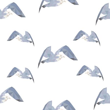 Geometrische driehoekige meeuwen naadloze patroon