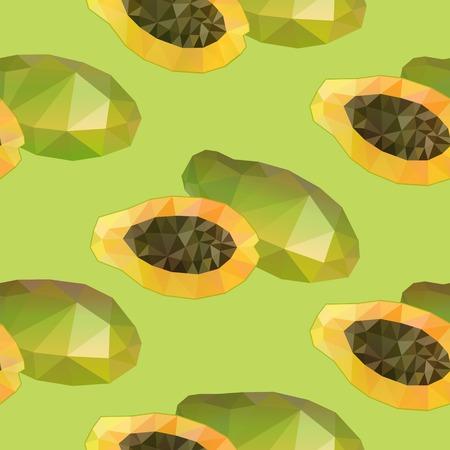 Geometric Polygonal Exotic Food Seamless Pattern