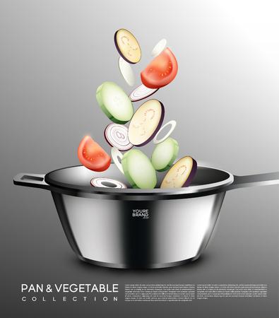 現実的な料理コンセプト  イラスト・ベクター素材