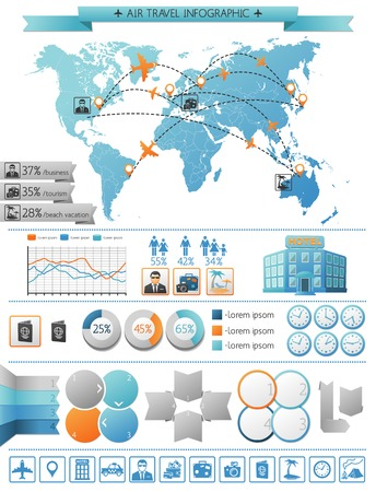 Air Travel Infographic Concept Illustration